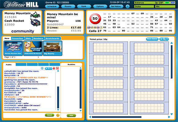 William Hill Bingospel